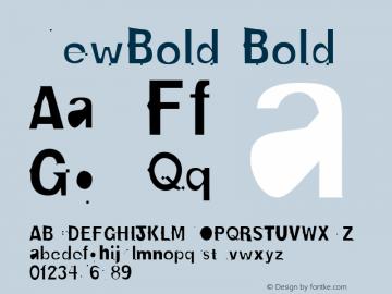 NewBold Bold Altsys Metamorphosis:4/16/92 Font Sample