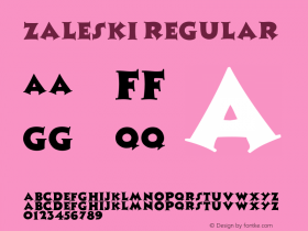 Zaleski Regular Converted from f:\x\ZALESKI.TF1 by ALLTYPE Font Sample