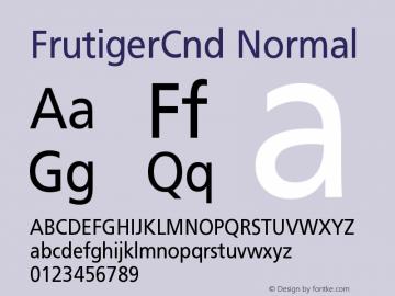 FrutigerCnd Normal Version 001.000 Font Sample