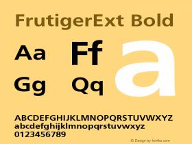 FrutigerExt Bold Version 001.000 Font Sample