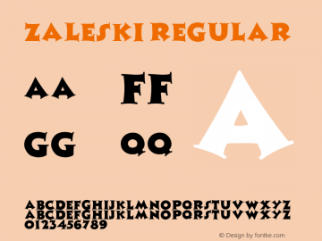 Zaleski Regular Altsys Metamorphosis:4/13/92 Font Sample