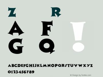 Zaleski Regular Converted from C:\TTFONTS\ZALESCAP.TF1 by ALLTYPE Font Sample