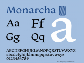 Monarcha ☞ Version 1.000 2010 initial release;com.myfonts.easy.isaco.monarcha.regular.wfkit2.version.3pcz Font Sample