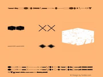 RUBASTYLEDINGBATOLD01 ☞ Version 1.000;PS 001.001;hotconv 1.0.56;com.myfonts.easy.rodrigotypo.ruba-style.old-dingbat-01.wfkit2.version.4nFm图片样张