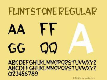 FlintStone Regular Altsys Fontographer 3.5  9/30/92 Font Sample