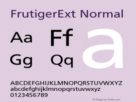 FrutigerExt Normal Version 001.000 Font Sample