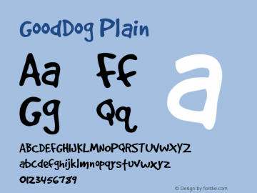 GoodDog Plain Altsys Fontographer 4.0.4 2/26/96 Font Sample