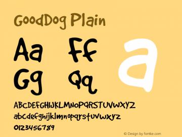 GoodDog Plain Altsys Fontographer 4.0.4 6/3/96 Font Sample