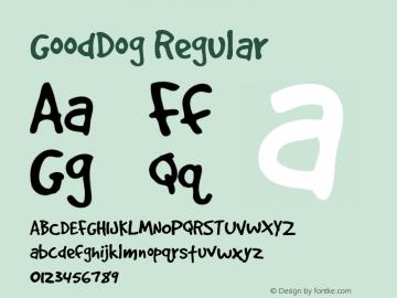 GoodDog Regular Version 1.001 Polish Added Font Sample