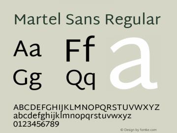 Martel Sans Regular Version 1.000; ttfautohint (v1.1) -l 5 -r 5 -G 72 -x 0 -D latn -f none -w gGD -W -c Font Sample