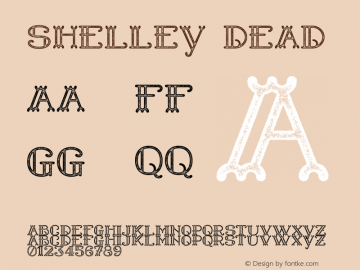 Shelley Dead Version 1.000 Font Sample