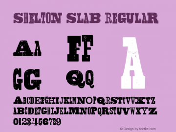 Shelton Slab Regular Version 1.000 Font Sample