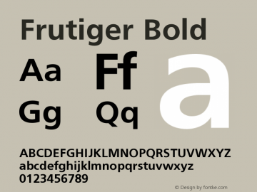 Frutiger Bold Version 001.000 Font Sample
