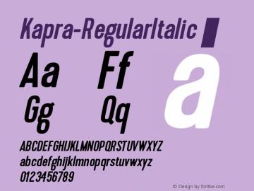 Kapra-RegularItalic ☞ 1.000;com.myfonts.easy.blazej-ostoja-lniski.kapra.italic.wfkit2.version.4aCn图片样张