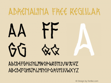 Adrenalina Free Regular 1.000图片样张