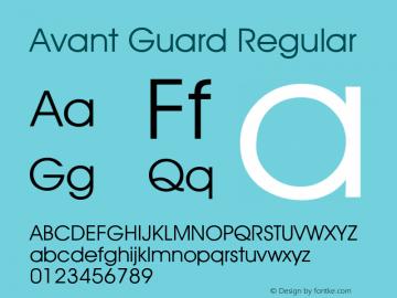 Avant Guard Regular Rev. 002.02 Font Sample