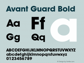 Avant Guard Bold Rev. 002.02图片样张