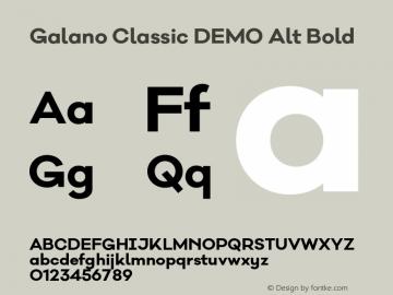 Galano Classic DEMO Alt Bold Version 1.000;PS 001.000;hotconv 1.0.70;makeotf.lib2.5.58329 Font Sample
