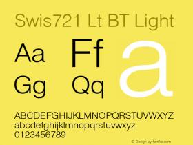 Swis721 Lt BT Light mfgpctt-v1.57 Wednesday, February 24, 1993 12:05:12 pm (EST) Font Sample