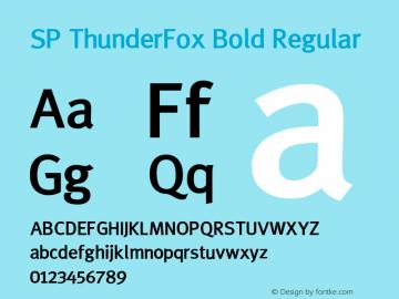SP ThunderFox Bold Regular 1.0 - วันที่ 13 มกราคม 2549图片样张
