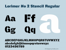 Lorimer No 2 Stencil Regular Version 1.001 Font Sample