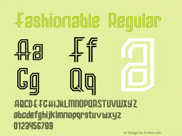 Fashionable Regular 1.00 Font Sample