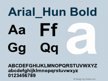 Arial_Hun Bold TT font :V1.00 Font Sample