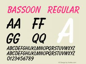 Bassoon Regular v1.0c Font Sample