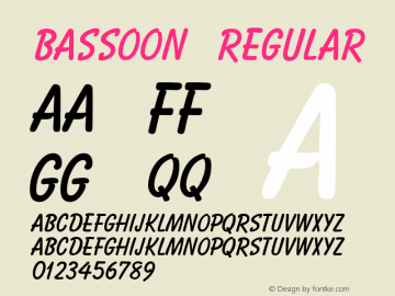 Bassoon Regular v1.0c Font Sample