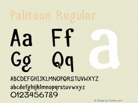 Palitoon Regular Version 1.000;PS 001.000;hotconv 1.0.56;makeotf.lib2.0.21325 Font Sample