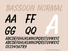 Bassoon Normal 1.0 Tue Nov 17 22:19:11 1992 Font Sample