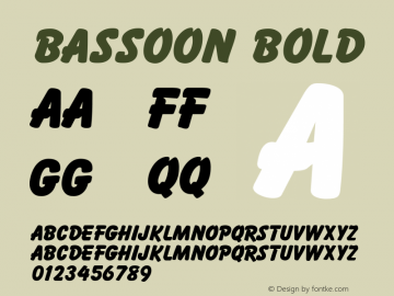Bassoon Bold 1.0 Tue Nov 17 22:16:49 1992 Font Sample