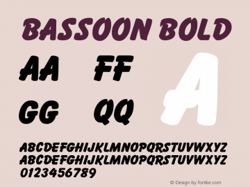 Bassoon Bold v1.0c Font Sample