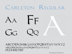 Carleton Regular v1.0c Font Sample