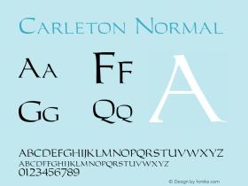 Carleton Normal 1.0 Tue Nov 17 23:10:17 1992 Font Sample