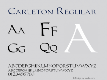 Carleton Regular 001.003图片样张