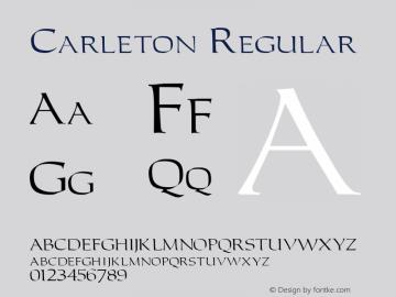 Carleton Regular 001.003 Font Sample