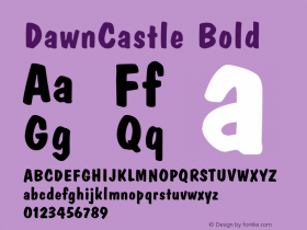 DawnCastle Bold 001.003 Font Sample