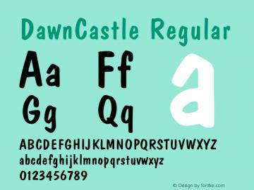 DawnCastle Regular v1.00 Font Sample