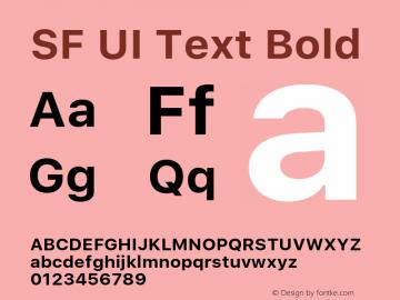 SF UI Text Bold 11.0d45e1--BETA Font Sample