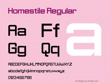 Homestile Regular Version 1.0图片样张