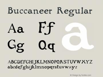 Buccaneer Regular Altsys Fontographer 3.5  10/19/92 Font Sample