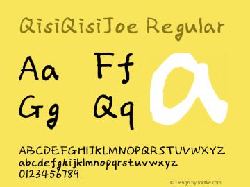 QisiQisiJoe Regular Version 1.00图片样张