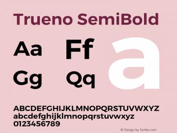Trueno SemiBold Version 3.001 Font Sample