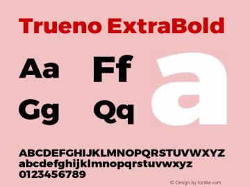 Trueno ExtraBold Version 3.001 Font Sample