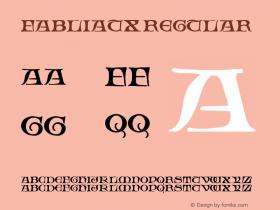 Fabliaux Regular Altsys Fontographer 3.5  10/20/92 Font Sample
