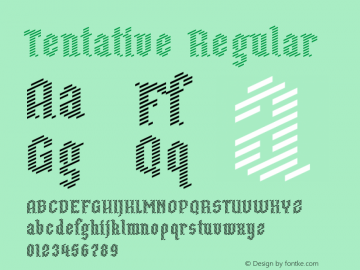 Tentative Regular Version 1.0图片样张