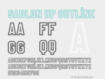 Sablon Up Outline 001.000 Font Sample