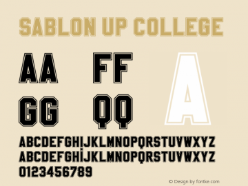 Sablon Up College 001.000 Font Sample