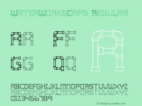 WaterWorksCaps Regular Altsys Fontographer 3.5  10/21/92 Font Sample